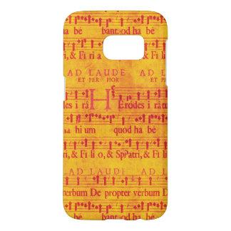 オレンジではかりで測られる赤い音楽 SAMSUNG GALAXY S7 ケース