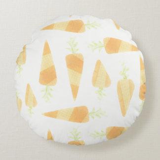 オレンジにんじんの枕 ラウンドクッション