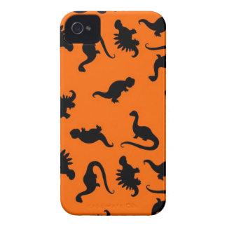 オレンジのかわいい恐竜パターン iPhone 4 Case-Mate ケース