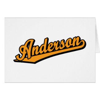 オレンジのアンダーソン カード