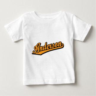 オレンジのアンダーソン ベビーTシャツ