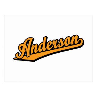 オレンジのアンダーソン ポストカード