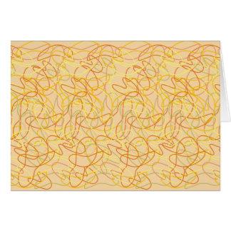 オレンジのオレンジ、金ゴールド及び黄色のオーガニックな形 カード