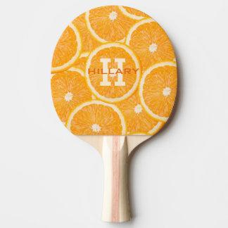 オレンジのカスタムなモノグラムの卓球ラケット 卓球ラケット