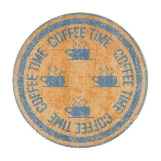 オレンジのコーヒー時間青 カッティングボード