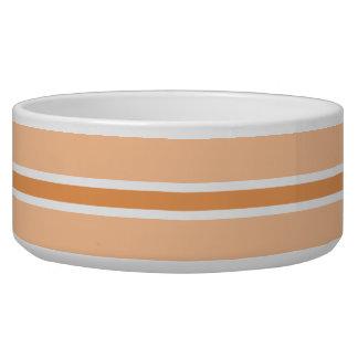 オレンジのストライプで大きいペットボウル 犬用水皿