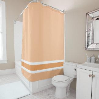 オレンジのストライプなシャワー・カーテン シャワーカーテン