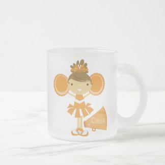 オレンジのチアリーダー フロストグラスマグカップ