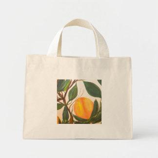 オレンジのトートバック ミニトートバッグ