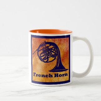 オレンジのフレンチ・ホルン ツートーンマグカップ