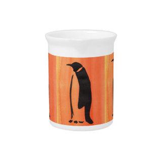 オレンジのペンギン ピッチャー