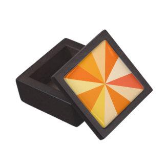 オレンジのポップアートのモダン60sファンキーで幾何学的な光線 ギフトボックス