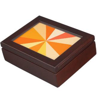 オレンジのポップアートのモダン60sファンキーで幾何学的な光線 ジュエリーボックス