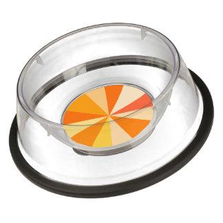 オレンジのポップアートのモダン60sファンキーで幾何学的な光線 ペットボウル