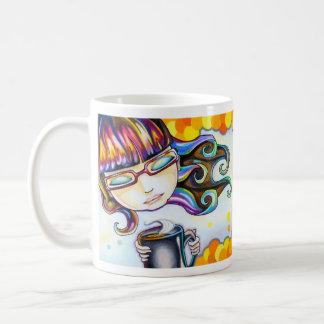オレンジのポップ・アートのなマグ コーヒーマグカップ
