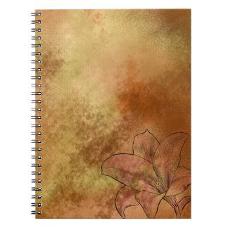 オレンジのユリ ノートブック