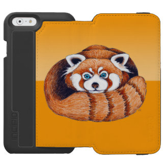 オレンジのレッサーパンダ INCIPIO WATSON™ iPhone 6 財布ケース