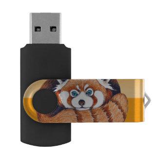 オレンジのレッサーパンダ USBフラッシュドライブ