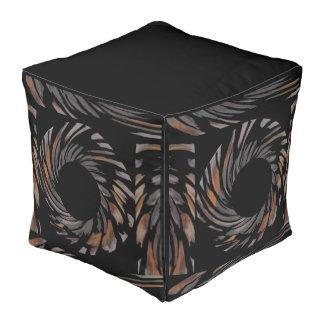 オレンジの家のためのヒョウの渦巻のPoufか灰色または黒 プーフ