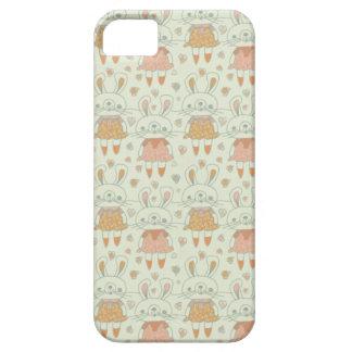 オレンジの幸せなバニー iPhone SE/5/5s ケース