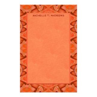 オレンジの抽象芸術 便箋