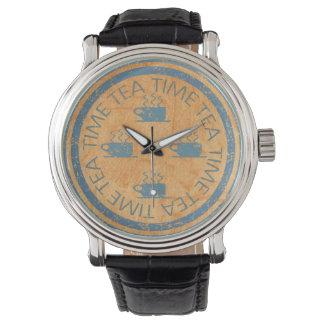 オレンジの茶時間青 腕時計
