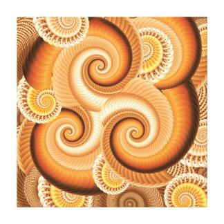 オレンジの陰のフラクタルのバックラム キャンバスプリント