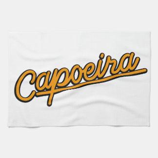 オレンジのCapoeira キッチンタオル