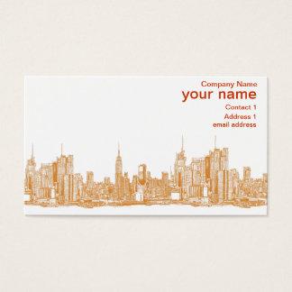 オレンジのNYC 名刺