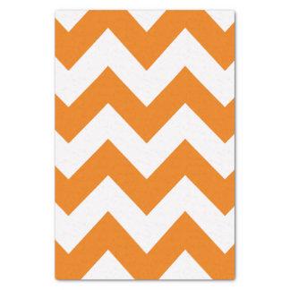 オレンジはっきりしたでモダンなシェブロン 薄葉紙