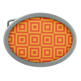 オレンジはベルトの留め金をタイルを張ります 卵形バックル