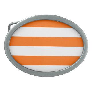 オレンジは縞で飾ります 卵形バックル