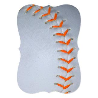 オレンジは野球/ソフトボールをステッチします 12.7 X 17.8 インビテーションカード