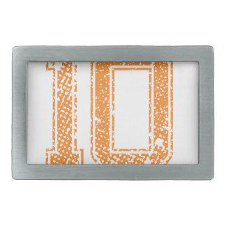 オレンジはJerzee数10.pngを遊ばします 長方形ベルトバックル