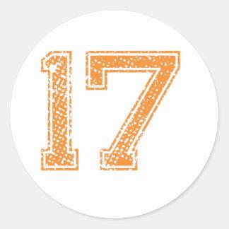 オレンジはJerzee数17.pngを遊ばします ラウンドシール