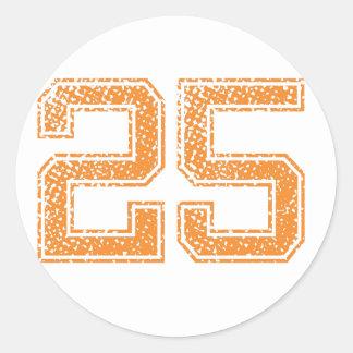 オレンジはJerzee数25.pngを遊ばします ラウンドシール