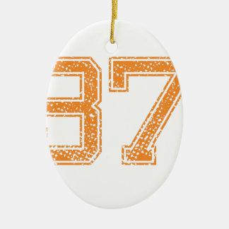 オレンジはJerzee数37.pngを遊ばします セラミックオーナメント