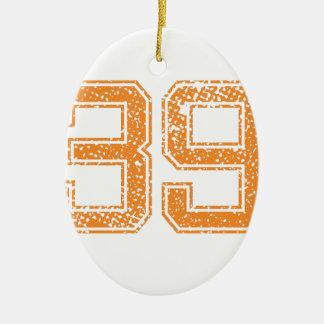 オレンジはJerzee数39.pngを遊ばします セラミックオーナメント