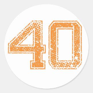 オレンジはJerzee数40.pngを遊ばします ラウンドシール