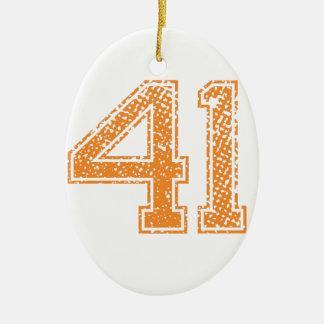 オレンジはJerzee数41.pngを遊ばします セラミックオーナメント