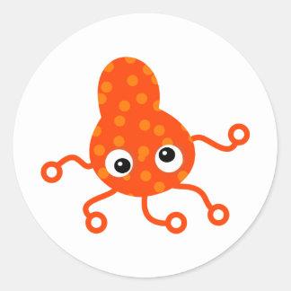 オレンジむらがある細菌 ラウンドシール