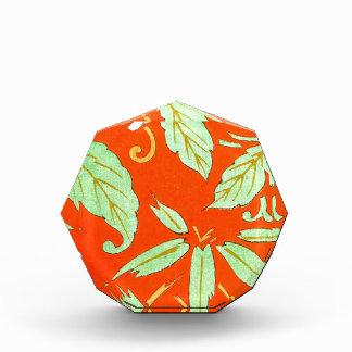 オレンジアジア植物 表彰盾