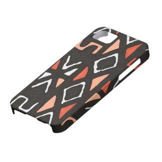 オレンジアフリカ人のMudclothの種族のプリント iPhone SE/5/5s ケース