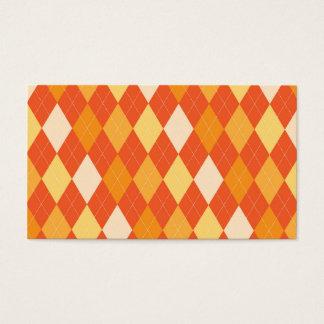 オレンジアーガイル柄のなパターン 名刺