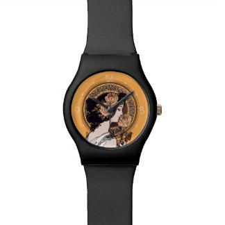 オレンジアールヌーボー 腕時計