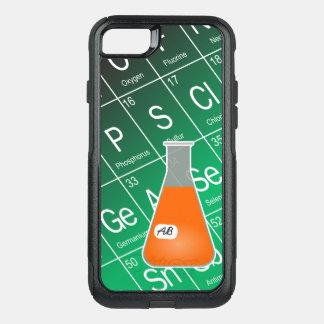 オレンジエルレンマイヤーフラスコ(イニシャルと)化学 オッターボックスコミューターiPhone 8/7ケース