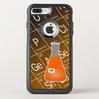 オレンジエルレンマイヤーフラスコ(イニシャルと)化学 オッターボックスコミューターiPhone 8 PLUS/7 PLUSケース