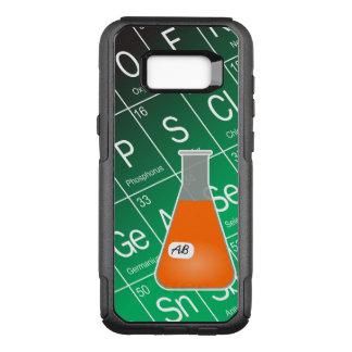 オレンジエルレンマイヤーフラスコ(イニシャルと)化学 オッターボックスコミューターSamsung GALAXY S8+ ケース