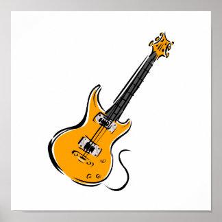 オレンジエレキギター音楽graphic.png ポスター
