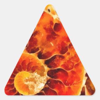 オレンジオウムガイ 三角形シール